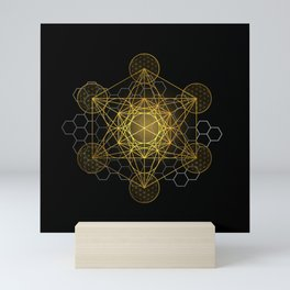 Sacred Geometry Metatrons Cube  Mini Art Print
