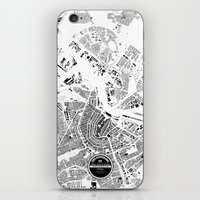 amsterdam iPhone & iPod Skins featuring AMSTERDAM by Maps Factory