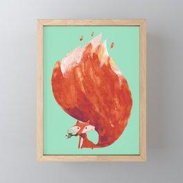 Kitsune (Fox of fire) Framed Mini Art Print