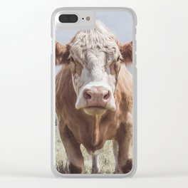 Animal Photography | Cow Portrait Photography | Farm animals Clear iPhone Case