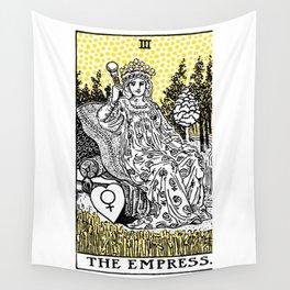 Modern Tarot Design - 3 The Empress Wall Tapestry