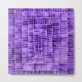 Watercolor abstract rectangles - purple Metal Print