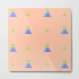 fantasia a triangoli Metal Print