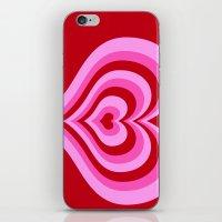 powerpuff girls iPhone & iPod Skins featuring powerpuff hearts by tukylampkin