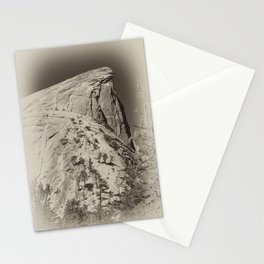 Yosemite Half Domes Backside Re-imagined Stationery Cards