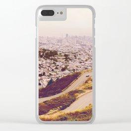 Misty Frisco (San Francisco sous la brume) Clear iPhone Case