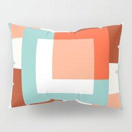 Squares Poppy + Mint Pillow Sham