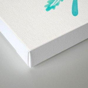 Fern Leaf – Turquoise Palette Canvas Print