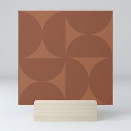 Monochromatic Minimalism - Red Mini Art Print