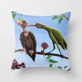 Whimsical  birds Throw Pillow