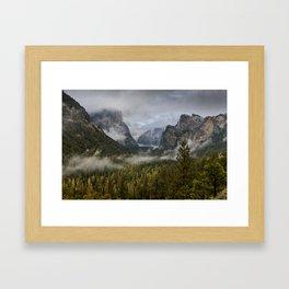 Yosemite National Park / Tunnel View  4/26/15 Framed Art Print