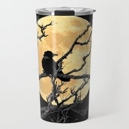Crow Against Full Moon A366 Travel Mug