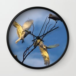 Cockies in a tree Wall Clock