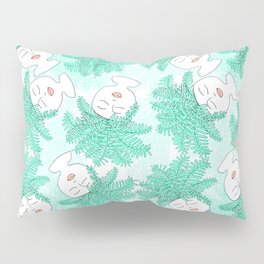 Fern-tastic Girls in Teal Pillow Sham