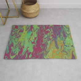 Purple & Green Fire Rug