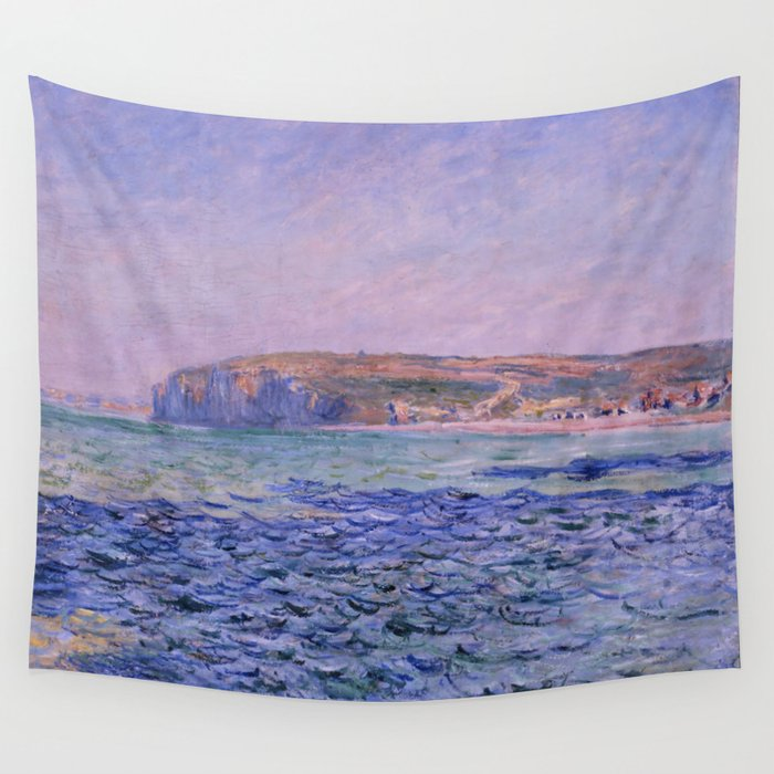 """Claude Monet """"Shadows on the Sea. The Cliffs at Pourville"""" Wall Tapestry"""