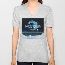 Stay wild moon child (dark) Unisex V-Neck