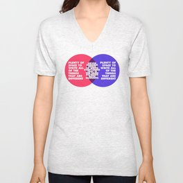 The Problem With Venn Diagrams Unisex V-Neck