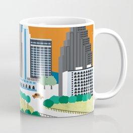 Austin, Texas - Skyline Illustration by Loose Petals Coffee Mug