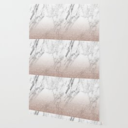 Marble sparkle rose gold Wallpaper