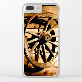 Old Cartwheel #decor #society6 Clear iPhone Case
