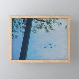4 Planes in the Sky & Tree, B Framed Mini Art Print