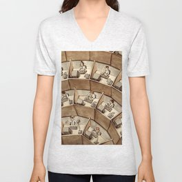 The Rings of Cubicle Hell Unisex V-Neck