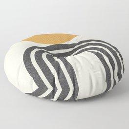 Mid century modern - half sun arch Floor Pillow