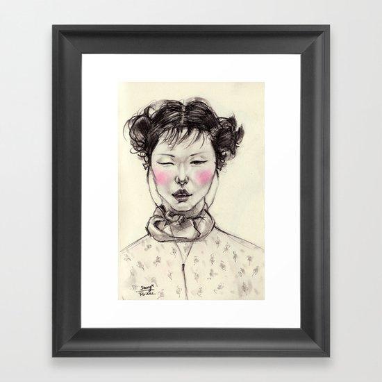 Chinese Girl Framed Art Print