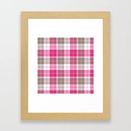 Pink & Natural Tartan Pattern Framed Art Print