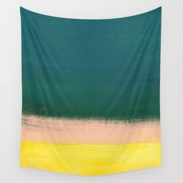 Minimal Abstract Sunset Painting Wall Tapestry