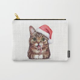 Christmas Animal Santa Cat Carry-All Pouch