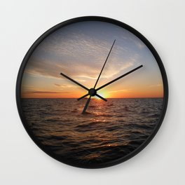 This is the life - Setting Sun , Hervey Bay Qld Wall Clock