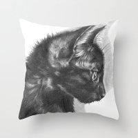 sam smith Throw Pillows featuring Sam by Aline Blanc