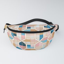 Mediterranean Geometric Shapes I. Fanny Pack