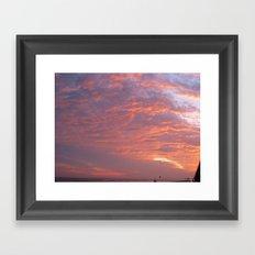 Galveston Sunset I Framed Art Print
