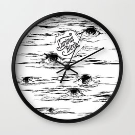 Curious Birch Wall Clock