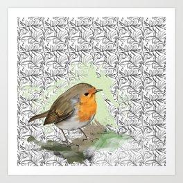 Garden Robin Art Print