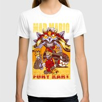 mario kart T-shirts featuring Mad Mario: Fury Kart by RynoArts