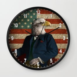 Official Portrait of Senator Silas Eagle Wall Clock