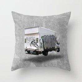berlin graffiti truck (3/3) Throw Pillow