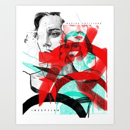 Marion Cotillard in Inception - Movie Inspired Art Art Print