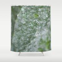 ukraine Shower Curtains featuring Ukraine dew drops #7029  by Photography by Stefanie Jasper