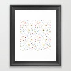 space pattern Framed Art Print