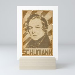 Robert Schumann Retro Propaganda Mini Art Print
