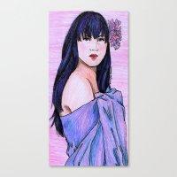 blanket Canvas Prints featuring Blanket by Margret Stewart