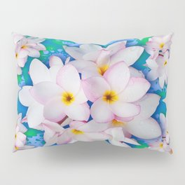Plumeria Bouquet Exotic Summer Pattern Pillow Sham