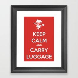 Keep Calm And Carry Luggage Framed Art Print