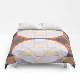 Triangles and Circles Pattern no.24 Comforters