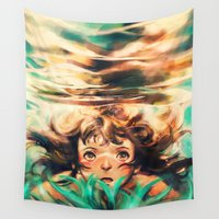 alice Wall Tapestries featuring The River by Alice X. Zhang
